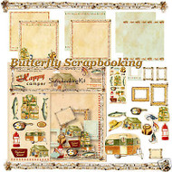 HAPPY CAMPER 12X12 Scrapbooking Kit Carol Wilson NEW