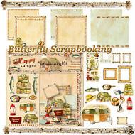 HAPPY CAMPER 12X12 Scrapbooking Kit Carol Wilson NEW