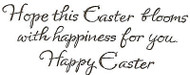 Happy Easter Saying Wood Mounted Rubber Stamp Northwoods Rubber Stamp New