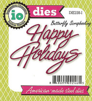 Happy Holidays American made Steel Dies by Impression Obsession DIE238-I New