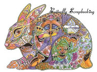 HARE BUNNY Animal Spirit Cling Unmounted Rubber Stamp EARTH ART Sue Coccia New