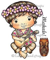Hawaii Luka Stamp Set Cling Unmounted Rubber Stamp La La Land Crafts 5117 New