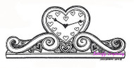 Heart Mantle Clock NORTHWOODS Wood Mounted Rubber Stamp NEW St Valentine's Day