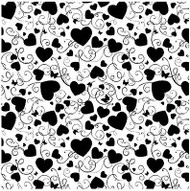 Heart S Cover A Card Background Unmounted Rubber Stamp Impression Obsession New