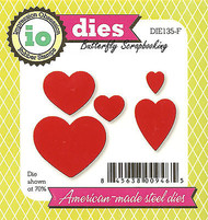 HEARTS Valentine Set American Made Steel Dies Impression Obsession DIE135-F New