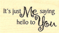 Hello To You Wood Mounted Rubber Stamp IMPRESSION OBSESSION Stamp C3760 New