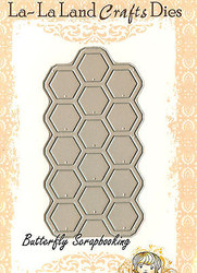 Honeycomb American made Steel Dies by La La Land Crafts DIE 8069 New