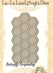 Honeycomb American made Steel Dies by La La Land Crafts DIE 8069 New