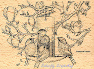 HOUSE MOUSE Bird Feeder Content Wood Mounted Rubber Stamp STAMPENDOUS HMR19 New