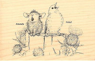 HOUSE MOUSE Bird Sing A Song Wood Mounted Rubber Stamp STAMPENDOUS HMP29 New