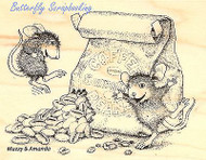 HOUSE MOUSE Coffee Caffeine High Wood Mounted Rubber Stamp STAMPENDOUS HMP06 New