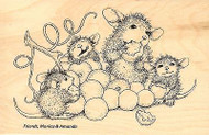 HOUSE MOUSE Grape Snack Mice Wood Mounted Rubber Stamp STAMPENDOUS HMP27 New