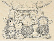 HOUSE MOUSE Gumball Gathering Wood Mounted Rubber Stamp STAMPENDOUS HMR27 New