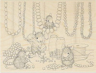 HOUSE MOUSE Jewelry Making Wood Mounted Rubber Stamp STAMPENDOUS HMR29 New