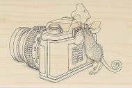 HOUSE MOUSE Say Cheese Camera Wood Mounted Rubber Stamp STAMPENDOUS HMP31 New