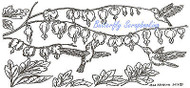Hummingbird Bleeding Heart Wood Mounted Rubber Stamp Northwoods Rubber Stamp New