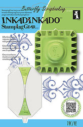 Intro Stamping Gear Kit sq with Unmounted Cling Rubber Stamp Set Inkadinkado New