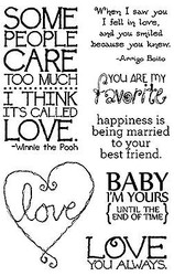 IT'S CALLED LOVE Quotes Clear Unmounted Stamp Set Impression Obsession CL564 NEW