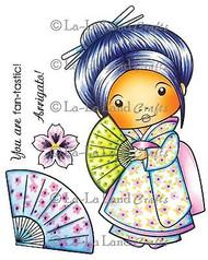 Kimono Marci Stamp Set Cling Unmounted Rubber Stamp La La Land Crafts 5171 New