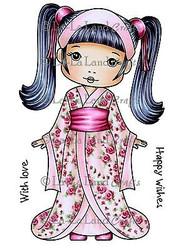 Kimono Molli Stamp Set Cling Unmounted Rubber Stamp La La Land Crafts 2008 New
