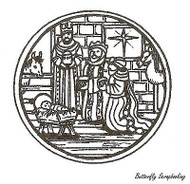 Kings Circle, Wood Mounted Rubber Stamp NORTHWOODS - NEW, CC9666