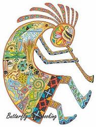 KOKOPELLI Animal Spirit Cling Unmounted Rubber Stamp EARTH ART Sue Coccia New