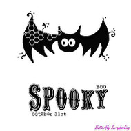 Kooky Spooky & Batty, Cling Style Unmounted Stamp UNITY STAMP, INC. -NEW, IB-483