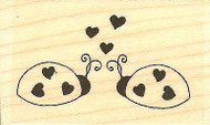 Ladybug Love, Wood Mounted Rubber Stamp IMPRESSION OBSESSION - NEW, B9529