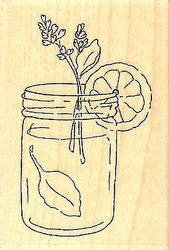 Lemon Refresh, Wood Mounted Rubber Stamp IMPRESSION OBSESSION - NEW, C9647