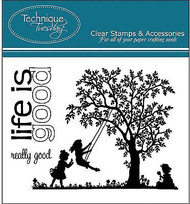 LIFE IS GOOD Stamp Set Clear Unmounted Rubber Stamps TECHNIQUE TUESDAY New