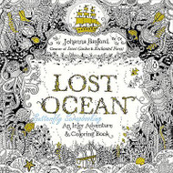 LOST OCEAN Coloring Book For Markers & Watercolors & Pencils 80 Pages New