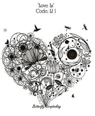 Love Flower Heart Mixed Media Cling Unmounted Rubber Stamp IndigoBlu Stamp NEW