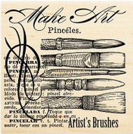 Make Art Artist Brushes Wood Mounted Rubber Stamp STAMPENDOUS Stamp W092 New