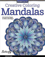 MANDALAS Creative Coloring Book For Markers & Watercolors Design Originals New