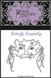 Masquerade Party MASK Cling Unmounted Rubber Stamp Paper Parachute UMCS-238 NEW