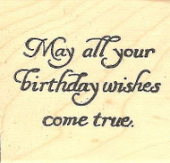 May All Your Birthday Text, Wood Mounted Rubber Stamp NORTHWOODS - NEW, CC9779