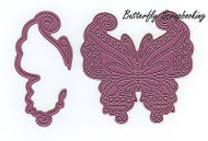 Mayan Butterfly & Wing, Steel Cutting Dies CHEERY LYNN DESIGNS - NEW, B533