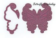 Mayan Butterfly & Wing, Steel Cutting Dies CHEERY LYNN DESIGNS - NEW, B533