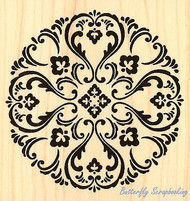 Medallion Circle Art Wood Mounted Rubber Stamp STAMPENDOUS Stamp W141 New