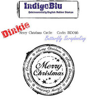 Merry Christmas Cling Unmounted Rubber Stamp Mixed Media Art IndigoBlu Stamp NEW