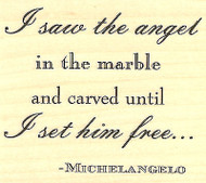 Michelangelo Angel Wood Mounted Rubber Stamp IMPRESSION OBSESSION D4513 New