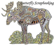 MOOSE Animal Spirit Cling Unmounted Rubber Stamp EARTH ART Sue Coccia New