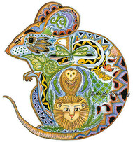 MOUSE Animal Spirit Cling Unmounted Rubber Stamp EARTH ART Sue Coccia New