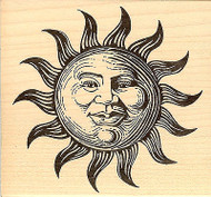 Mr Sun, Wood Mounted Rubber Stamp JUDIKINS, NEW - 2124H