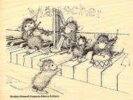 Musical Mice HOUSE MOUSE Wood Mounted Rubber Stamp STAMPENDOUS, NEW - HMR24