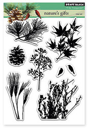 Natures Gifts Pine Birds Clear Unmounted Rubber Stamp Set PENNY BLACK 30-251 New