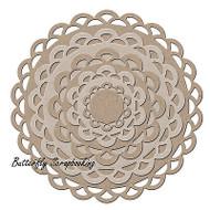 Nesting Scallops 10 Die Creative Steel Dies Magnetic Storage LITTLE B 100380 NEW