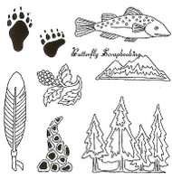 NORTHWEST Background Images Clear Unmounted Rubber Stamps EARTH ART Sue Coccia