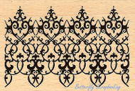 Ornate Border Art Wood Mounted Rubber Stamp STAMPENDOUS Stamp P247 New