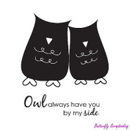 Owl Always, Cling Style Unmounted Rubber Stamp UNITY STAMP, INC. - NEW, IB-19